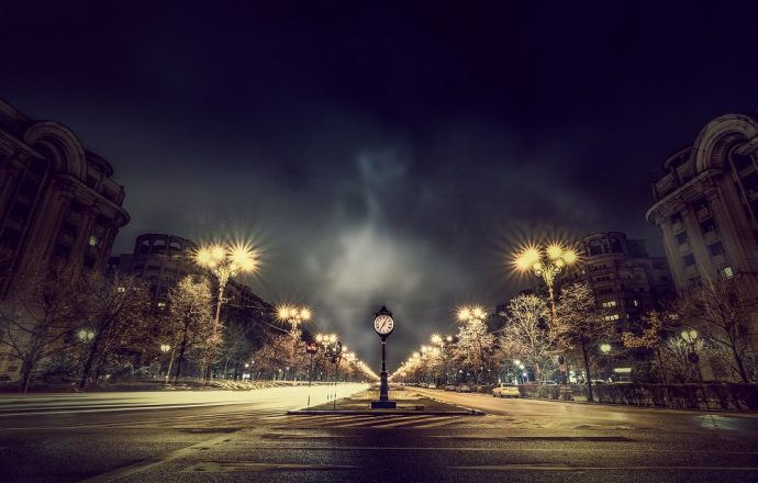 Paris clock lonely