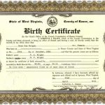 scene of birth certificate