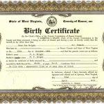 scene of birth certificate