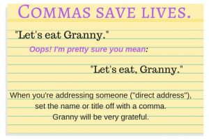 Commas save lives.